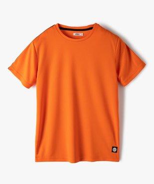 Tee-shirt garçon sport en maille légère à manches courtes  vue1 - GEMO (ENFANT) - GEMO