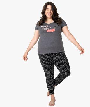 Pyjama femme avec message humoristique vue5 - GEMO(HOMWR FEM) - GEMO