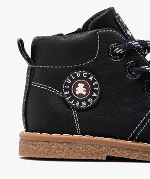 Boots bébé garçon à lacets et zip – LuluCastagnette vue6 - LULU CASTAGNETT - GEMO