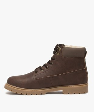 Boots homme à doublure chaude - Les Supaires vue3 - GEMO (CASUAL) - GEMO
