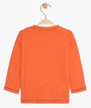 Tee-shirt bébé garçon en coton avec imprimé fantaisie vue2 - GEMO(BEBE DEBT) - GEMO