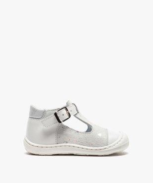 Sandales premiers pas bébé fille en cuir dessus pailleté vue1 - Nikesneakers(BEBE DEBT) - Nikesneakers
