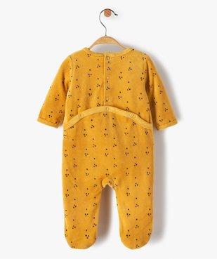 Pyjama dors-bien bébé garçon en velours avec motifs lions vue4 - GEMO(BB COUCHE) - GEMO