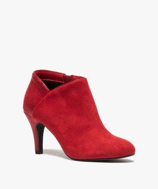Low-boots femme dessus suédine et bordures passepoil vue2 - Nikesneakers(URBAIN) - Nikesneakers