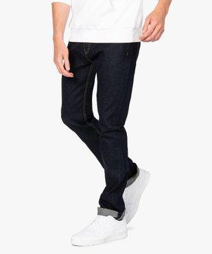 Jean homme straight en coton stretch vue1 - GEMO (HOMME) - GEMO