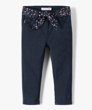 Pantalon bébé fille à ceinture fleurie - Lulu Castagnette vue1 - LULUCASTAGNETTE - GEMO