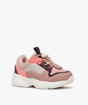 Baskets bébé fille das shoes légères vue2 - GEMO(BEBE DEBT) - GEMO