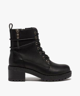 Boots fille unies à talon et semelle crantée fermeture zip vue1 - GEMO (ENFANT) - GEMO