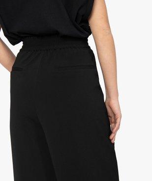 Pantacourt femme coupe ample avec taille élastiquée vue2 - GEMO(FEMME PAP) - GEMO