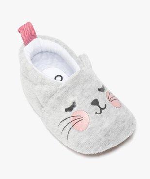Chaussons de naissance bébé fille en velours motif chat vue5 - GEMO(BB COUCHE) - GEMO