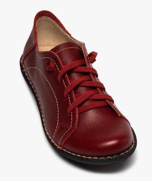 Derbies femme confort dessus cuir à lacets élastiques vue5 - Nikesneakers (CASUAL) - Nikesneakers