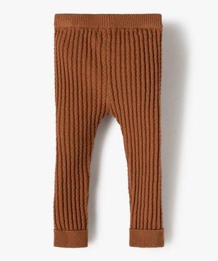 Pantalon bébé fille en maille fantaisie avec revers cousus vue3 - GEMO(BEBE DEBT) - GEMO