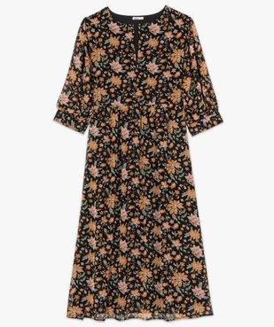 Robe femme longue à motifs fleuris et manches amples  vue4 - GEMO (G TAILLE) - GEMO