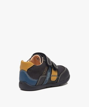 Baskets bébé garçon multimatières à scratch - Geox vue4 - GEOX - GEMO