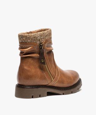 Boots fille à col en maille et semelle crantée vue4 - GEMO (ENFANT) - GEMO