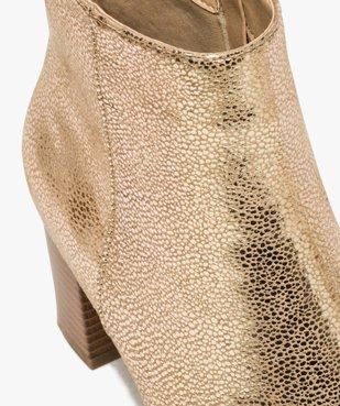 Boots femme à talon carré dessus métallisé vue6 - Nikesneakers(URBAIN) - Nikesneakers