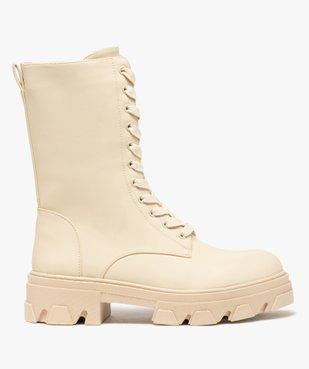 Boots femme unies à lacets semelle extra large et crantée vue1 - GEMO (CASUAL) - GEMO
