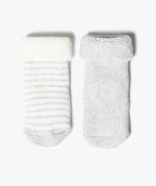Chaussettes bébé en maille bouclette rayée (lot de 2)  vue1 - GEMO C4G BEBE - GEMO