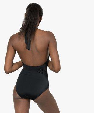 Maillot de bain femme une pièce forme triangle vue3 - GEMO (PLAGE) - GEMO
