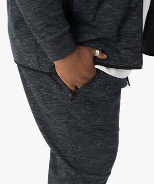 Pantalon homme en maille chinée à poches zippées vue2 - GEMO (G TAILLE) - GEMO
