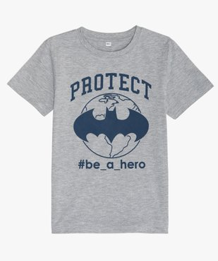 Tee-shirt garçon manches courtes imprimé Batman - DC Comcics vue1 - DC COMICS - GEMO