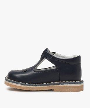 Chaussures bébé garçon ouvertes dessus et intérieur cuir vue3 - GEMO(BEBE DEBT) - GEMO