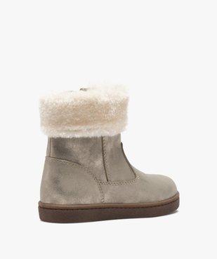 Boots fille à col rembourré en fourrure imitation vue4 - Nikesneakers (ENFANT) - Nikesneakers
