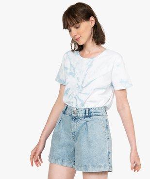 Tee-shirt femme à manches courtes oversize vue1 - GEMO(FEMME PAP) - GEMO