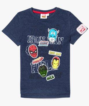 Tee-shirt chiné super héros - Marvel vue1 - MARVEL HEROES - GEMO