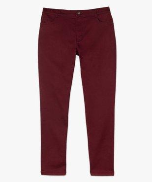 Pantalon femme coupe slim en maille extensible vue4 - GEMO (G TAILLE) - GEMO
