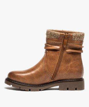 Boots fille à col en maille et semelle crantée vue3 - GEMO (ENFANT) - GEMO