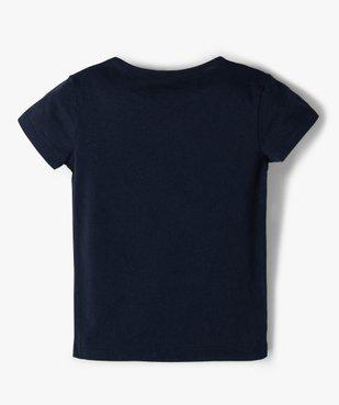 Tee-shirt fille avec motif pailleté sur l'avant vue3 - GEMO (ENFANT) - GEMO