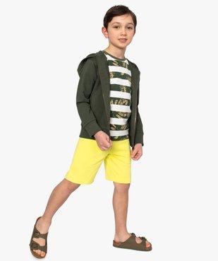 Bermuda garçon en jersey à taille élastiquée vue5 - GEMO (ENFANT) - GEMO