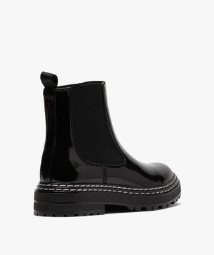 Boots femme style chelsea vernies à semelle crantée vue4 - Nikesneakers (CASUAL) - Nikesneakers