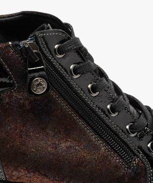 Boots femme confort zippées à talon compensé  vue6 - GEMO (CASUAL) - GEMO