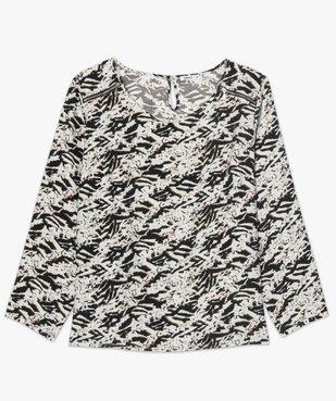 Blouse femme imprimée avec zip fantaisie sur les épaules vue4 - Nikesneakers (G TAILLE) - Nikesneakers