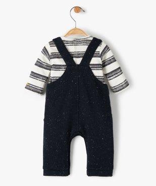 Ensemble bébé garçon 2 pièces : tee-shirt + salopette - Sucre d'Orge vue3 - SUCRE D'ORGE - GEMO
