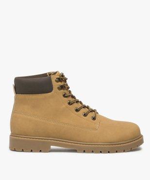 Boots homme à semelle crantée et lacets - Les Supaires à col contrastant et lacets bicolores vue1 - GEMO (CASUAL) - GEMO