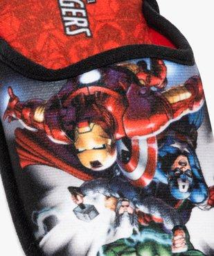 Chaussons garçon mules en velours ras - Avengers vue6 - AVENGERS - GEMO