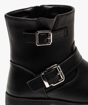Boots fille unis avec boucles fantaisies fermeture zippée vue6 - Nikesneakers (ENFANT) - Nikesneakers