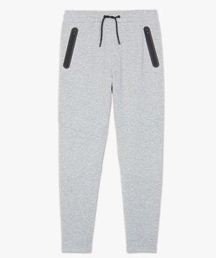 Pantalon homme en maille à taille élastiquée vue4 - GEMO (HOMME) - GEMO