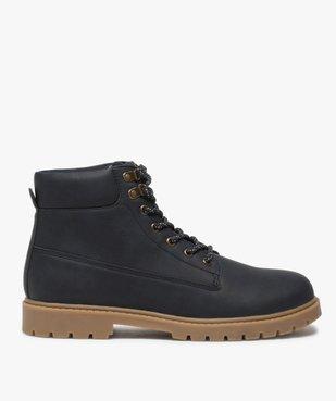 Boots homme à semelle crantée et lacets - Les Supaires à semelle contrastante et lacets bicolores vue1 - GEMO (CASUAL) - GEMO