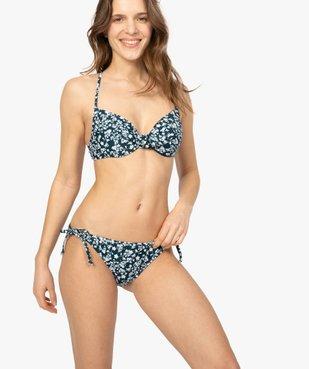Bas de maillot de bain femme à nouer sur les hanches  vue3 - GEMO (PLAGE) - GEMO