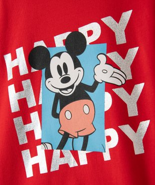 Tee-shirt garçon à manches longues avec motif Mickey - Disney vue2 - DISNEY DTR - GEMO