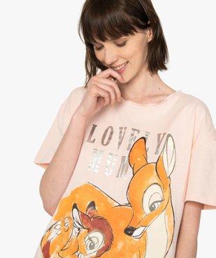 Tee-shirt femme oversize avec motif XXL - Disney vue2 - DISNEY DTR - Nikesneakers