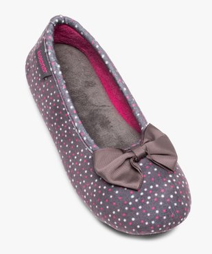 Chaussons femme forme ballerine à pois - Isotoner vue5 - ISOTONER - Nikesneakers