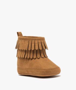 Chaussons bébé fille unis style boots à franges vue2 - GEMO C4G BEBE - GEMO