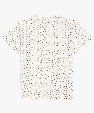 Tee-shirt fille imprimé avec broderie scintillante vue4 - GEMO (JUNIOR) - GEMO