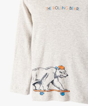 Tee-shirt garçon imprimé à manches longues et col montant vue2 - Nikesneakers (ENFANT) - Nikesneakers