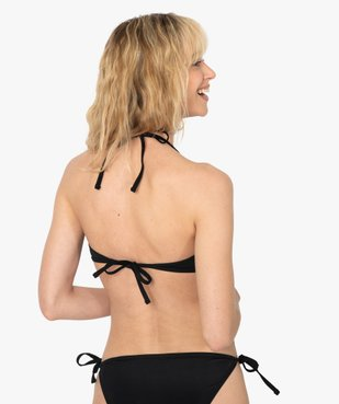 Haut de maillot de bain femme forme triangle avec anneau vue2 - GEMO (PLAGE) - GEMO
